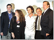 Keith Lawler, Gail Zappa, Dweezil Zappa, Al Schmitt and Ed Cherney - Click for a Larger Image