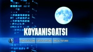 Philip Glass Koyaanisqatsi menu