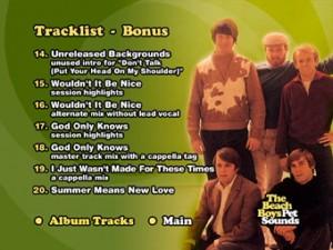 pet sounds tracklist bonus