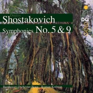 Beethoven Orchestra Bonn (Kofman) - Shostakovich: Symphony 5, Symphony 9 cover
