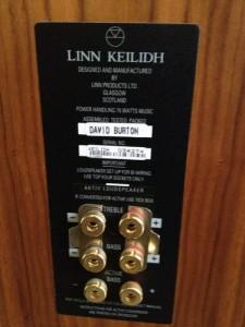 Linn Keilidhs speaker connectors