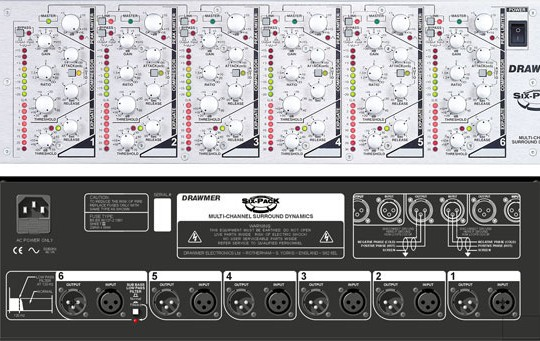 Drawmer Six-Pack Multichannel Compressor/Limiter.