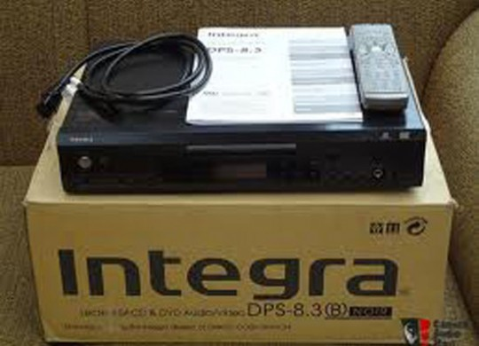 Integra DPS-8.3 SACD and DVD/Video Player. Making things easier in the multi-format age.