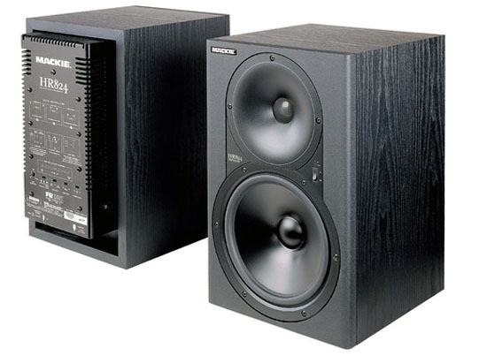 Mackie hr824 active studio monitors photo