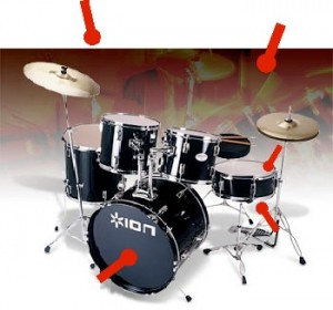 how to record drumm kit sound