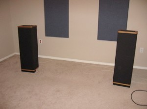 Vandersteen 1C Speakers in room
