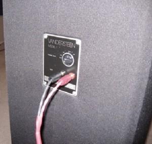 Vandersteen 1C Speaker's back