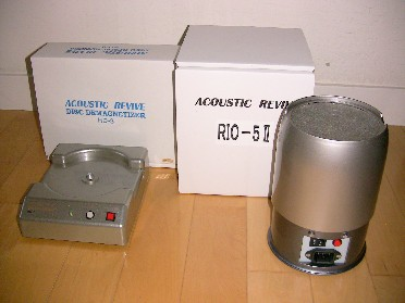 Acoustic Revive RD-3 Disc Demagnetizer and Rio-5 II Minus Ion Generator