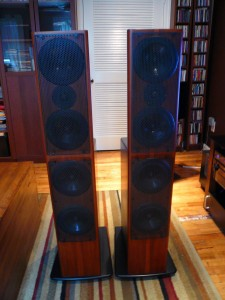 AV123 x-statik open baffle speakers