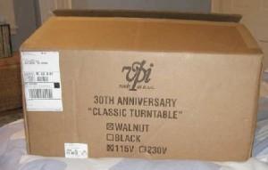 VPI Classic Turntable box
