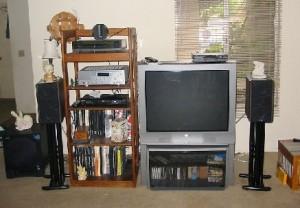 my room with audio equipment