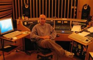 "Louie Teran in Mastering Studio ""B"" at Marcussen Mastering."