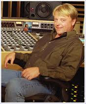 "Stephen Marcussen behind the desk in Mastering Studio ""A"" at Marcussen Mastering in Hollywood."