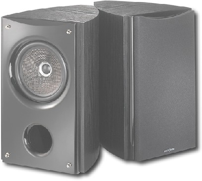 Insignia 6-1/2″ Bass-Reflex Bookshelf Speakers