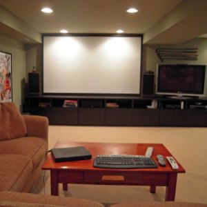 Sweet Home Theater Setup: First Extreme The Basement