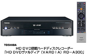 Toshiba rd a300 vardia dvdhdd recorder hd players toshiba has unveiled its new rd a300 vardia dvdhdd recorder with 300gb storage capacity it will be available at an expected price of 150000 yen approx publicscrutiny Image collections